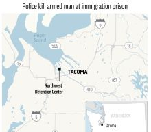 Demonstrators return to immigration jail after attack, death