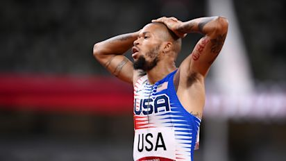 No storybook ending for U.S. mixed relay team