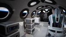 Virgin Galactic shows off spaceship cabin