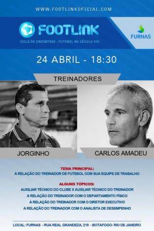 Com participação de Jorginho, Footlink estreia nova edição no Rio