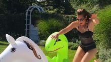 Thalía se muestra en bikini tras críticas por su cintura; mírala