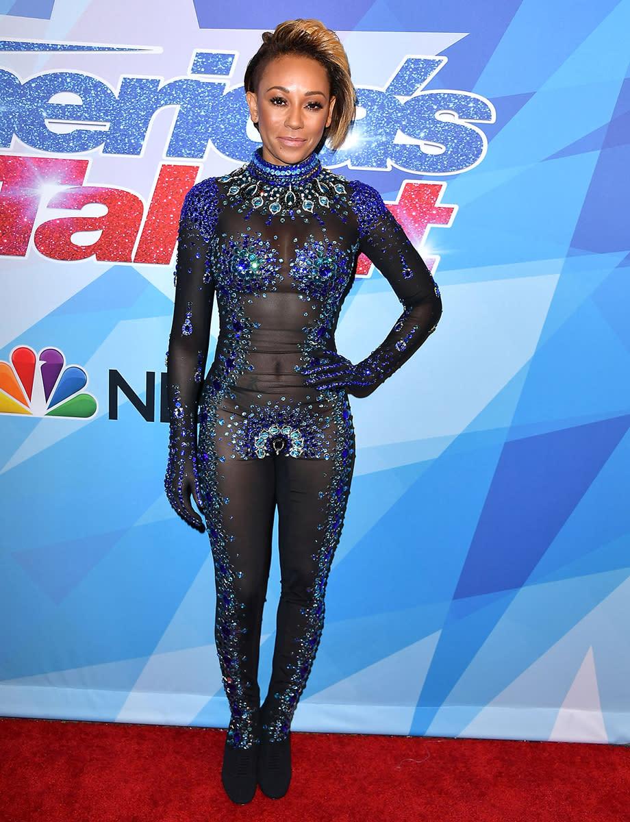 bc26b2b9d3e Melanie Brown at NBC s America s Got Talent Season 12 live show on Aug. 15.  (Photo  Getty Images)