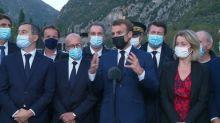 Intempéries dans les Alpes-Maritimes : le bilan atteint 5 morts et 7 disparus, selon Emmanuel Macron