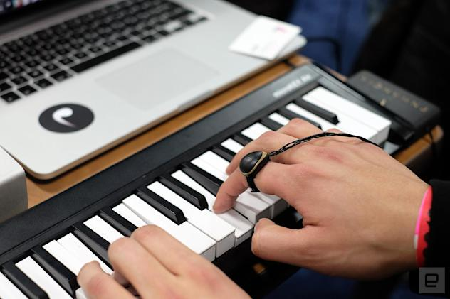 The Enhancia ring turns your gestures into musical effects