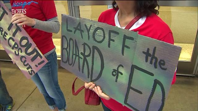 Protesters rally against CPS