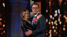 Sarah Jessica Parker attends prom for the first time with Stephen Colbert