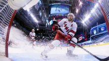 Slavin, Teravainen discuss long layoff, Rangers series Thursday morning