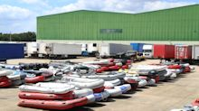 Hundreds of 'discarded migrant boats' found at Dover warehouse