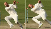 'Catch it or die': Nathan Lyon's insane no-look catch