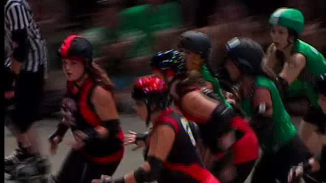 Roller Derby Girls in Fun Size