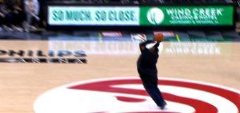 Fan has best reaction to making half-court shot