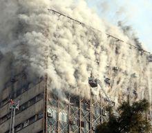 Deadly fire destroys high-rise building in Tehran, Iran