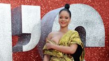 Rihanna narrowly avoids wardrobe malfunction at 'Ocean's 8' London premiere
