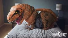 Bride does boudoir photo shoot in a T. rex costume and the results are hilarious