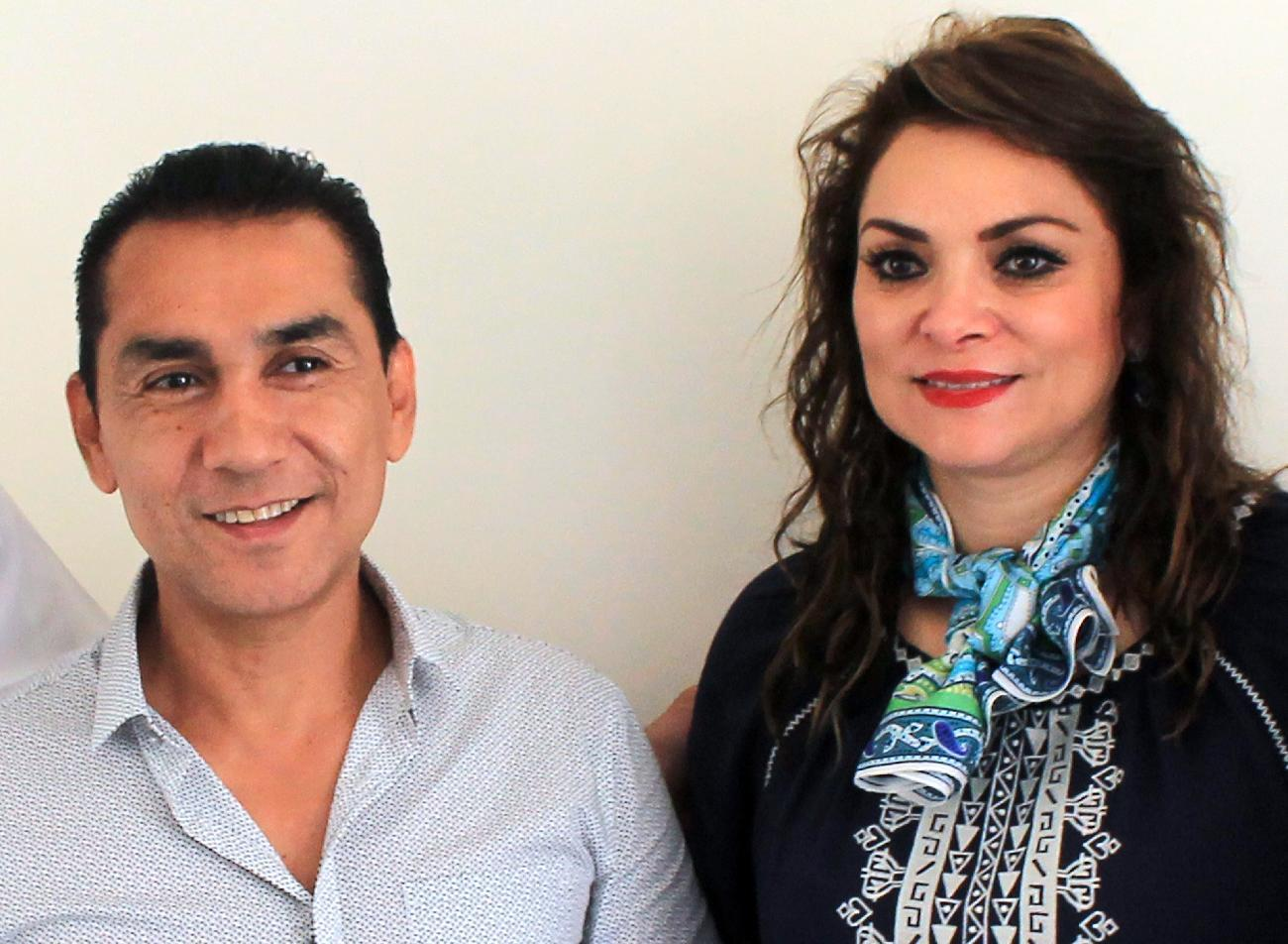 Former Iguala mayor Jose Luis Abarca and his wife Maria de Los Angeles Pineda, shown July 3, 2014, are accused of colluding with a drug cartel in the disappearance of 43 students (AFP Photo/Jesus Guerrero)