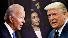 """Trump says it would be """"an insult to our country"""" if Kamala Harris became the first female president"""