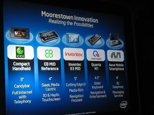 Five new Moorestown-based MIDs announced at Computex