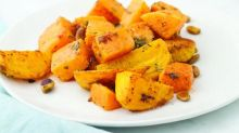 Roasted Squash and Beets in Tahini Sauce