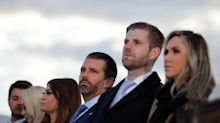 Eric Trump says he will 'never forget Buckingham Palace' as family seen in tears at farewell ceremony
