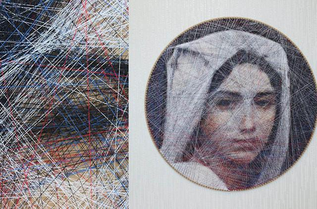 Algorithms help an artist tease portraits out of thread