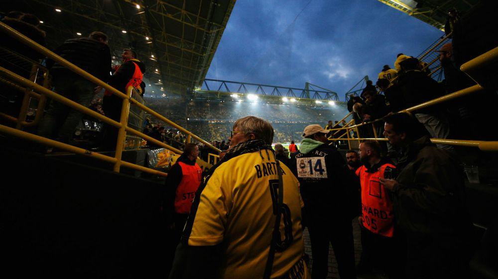 Solidaridad entre las aficiones del Mónaco y el Borussia Dortmund