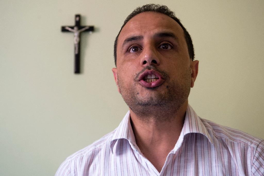 Mustapha, the son of an expert on Islamic law in Morocco, says he converted to Christianity in 1994 to 'fill a spiritual void' (AFP Photo/FADEL SENNA)