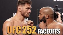 UFC 252: Miocic vs. Cormier weigh-in face-offs video