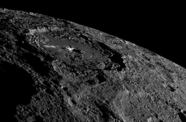 NASA says Ceres' brightest crater is made of salt