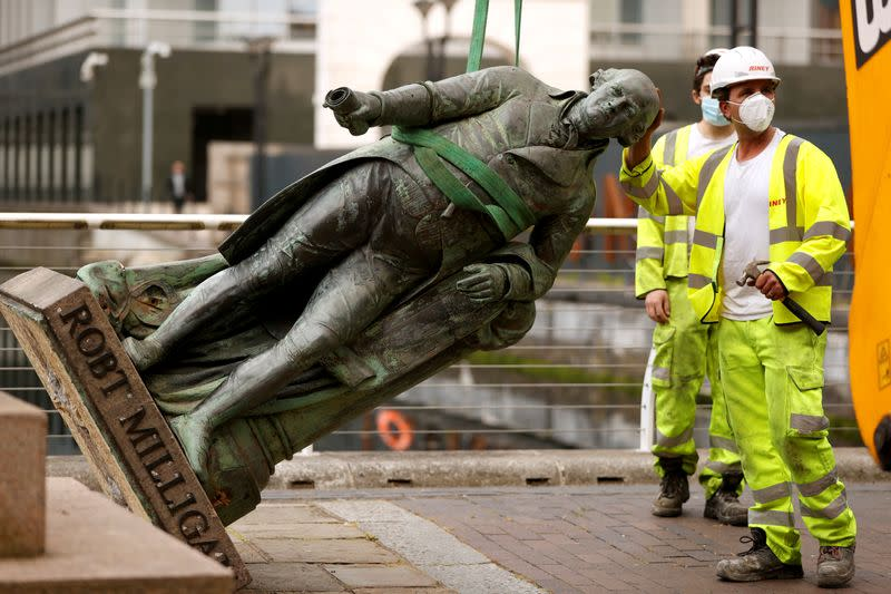 London financial district asks if it should remove statues linked to slavery
