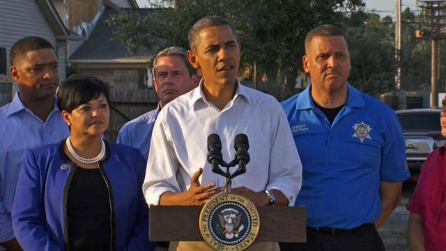 Obama commends Isaac clean up, rescue efforts