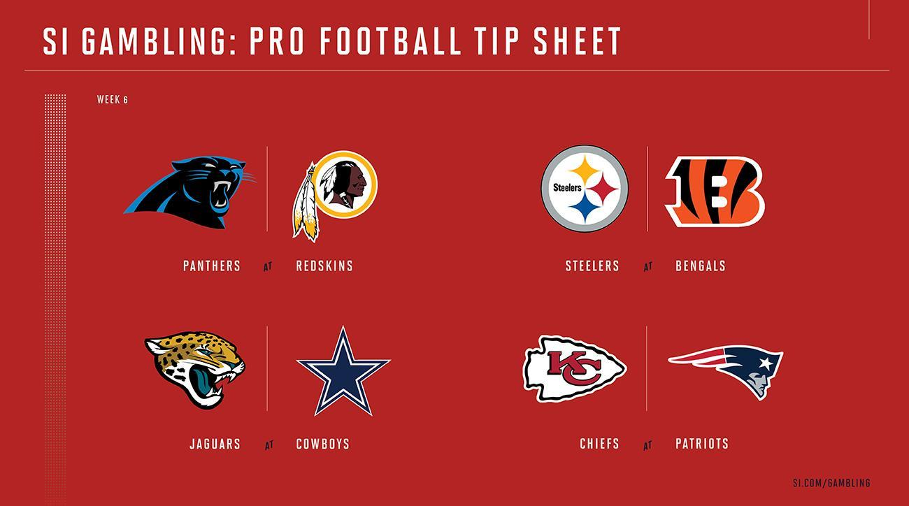 Weekly Tip Sheet The Complete Printable Betting Guide To Nfl Week 6 Games