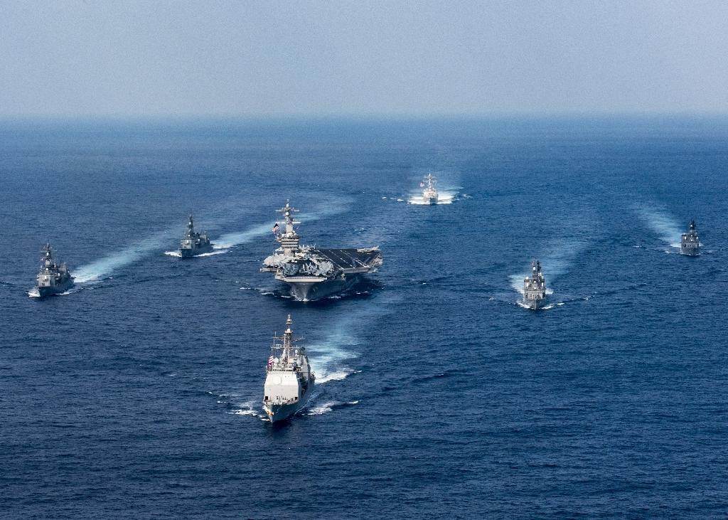 Japan and the US have a decades-long defence relationship and conduct frequent joint military exercises (AFP Photo/MCS 3rd Class Matt BROWN)