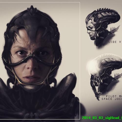 Alien Concept Art Sigourney Weaver Neill Blomkamp