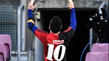 Lionel Messi's Diego Maradona tribute: FC Barcelona legend reveals Newell's Old Boys shirt in goal celebration