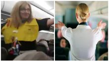 Flight attendant's hilarious announcement leaves passengers in stitches