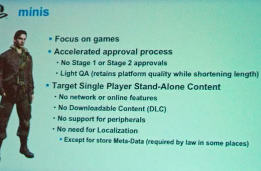 PSP minis lack network features for fast approval time