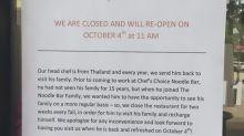 Restaurante anuncia período de recesso e motivo atrai mais clientes