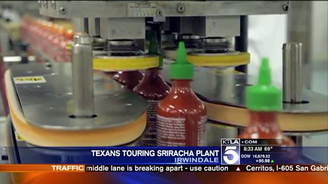 Sriracha Battle: Texas Delegation Comes to California to Tour Irwindale Plant