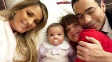 Ticiane posta foto com César Tralli e as filhas: 'Amor que não cabe'