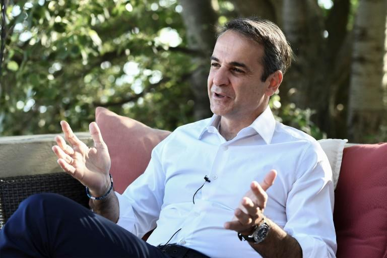 The first priority is fixing the economy, says Kyriakos Mitsotakis, leader of Greece's New Democracy party (AFP Photo/ARIS MESSINIS)