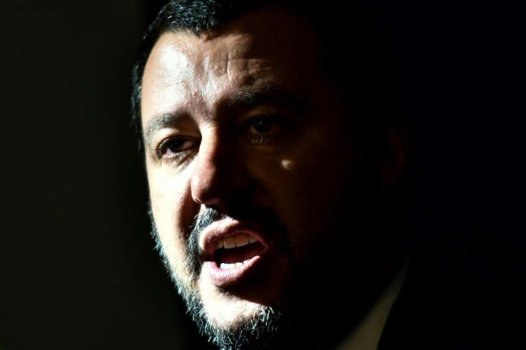 Italy's Interior Minister Matteo Salvini has promoted a nationalist, anti-immigrant agenda (AFP Photo/Alberto PIZZOLI)