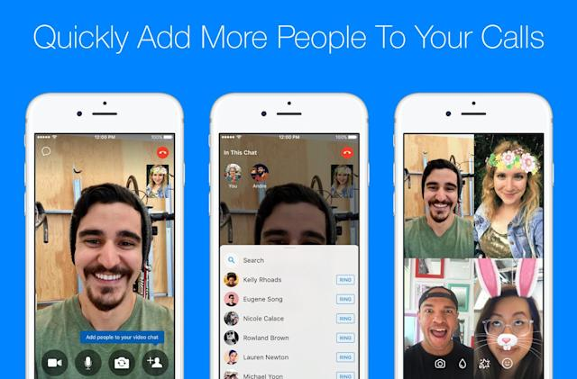 Facebook Messenger adds an easy way to start group calls