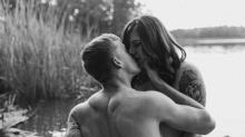 This empowering engagement photo shoot is filled with all the body-positive feels