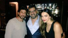 Picture Perfect! SRK and Deepika pose together at a party in Mannat