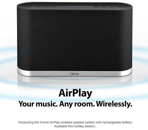 iHome reveals first AirPlay wireless speaker system