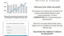 Links com pesquisas eleitorais falsas do Ibope e Datafolha circulam no WhatsApp