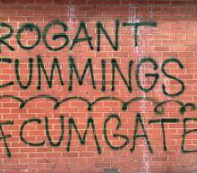 Graffiti targeting UK PM's chief adviser Dominic Cummings appears near his home in London