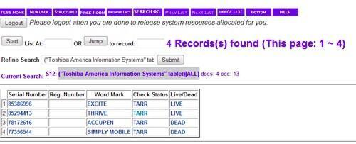 Will Toshiba's next tablet be named the Excite? Trademark filings suggest so