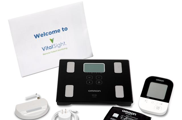 Omron's VitalSight is a blood pressure monitoring service for telehealth