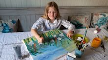 Girl, 10, made £50k from her floral paintings – and donated it all to charity
